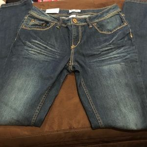 Girls skinny denim jeans size 16R. NWT!